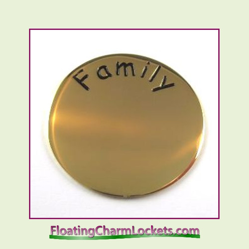 Family Back Plate (Gold) for Medium Round Stainless Steel Locket