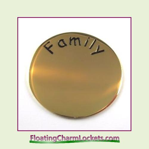 Family Back Plate (Gold) for Medium Round Stainless Steel Locket