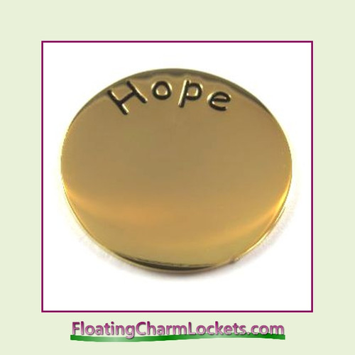 Hope Back Plate (Gold) for Medium Round Stainless Steel Locket