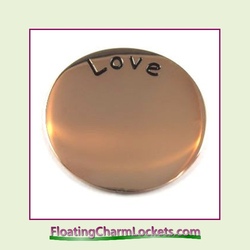 Love Back Plate (Rose) for Medium Round Stainless Steel Locket