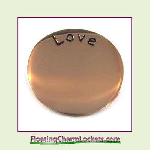 Love Back Plate (Rose) for Medium Round Stainless Steel Locket
