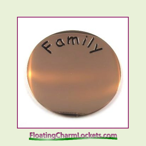 Family Back Plate (Rose) for Large Round Stainless Steel Locket