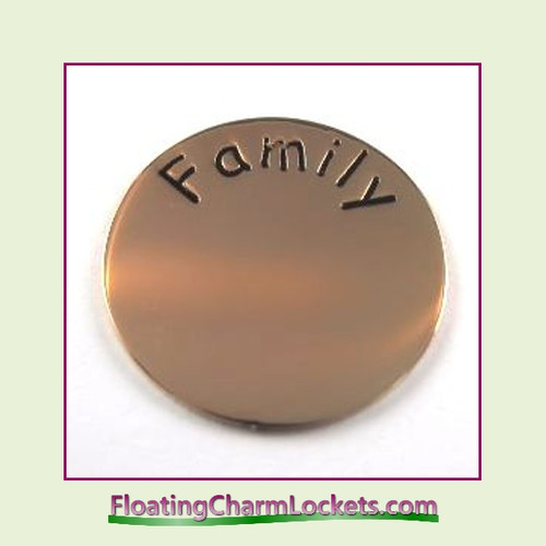 Family Back Plate (Rose) for Medium Round Stainless Steel Locket