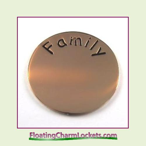 Family Back Plate (Rose) for Medium Round Stainless Steel Locket