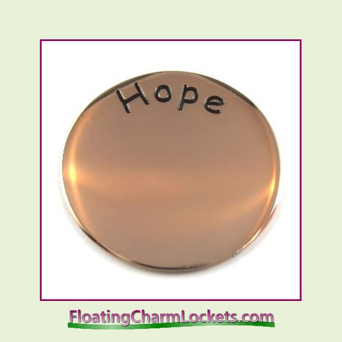 Hope Back Plate (Rose) for Medium Round Stainless Steel Locket