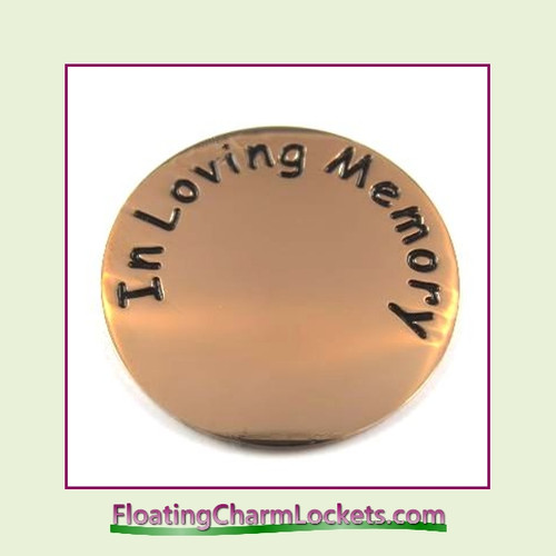 In Loving Memory Back Plate (Rose) for Large Round Stainless Steel Locket
