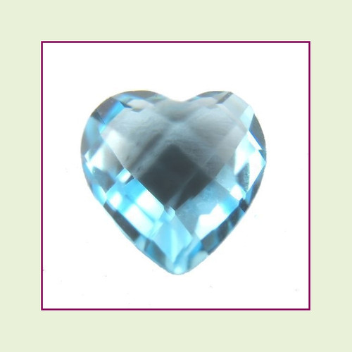 March Aqua Heart Crystal Birthstone