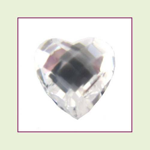 CZH04 - April Diamond Heart Crystal Birthstone – 5mm – For Floating Lockets