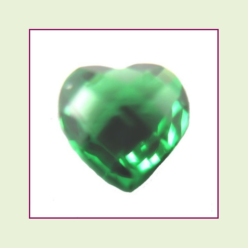 CZH05 - May Emerald Heart Crystal Birthstone – 5mm – For Floating Lockets