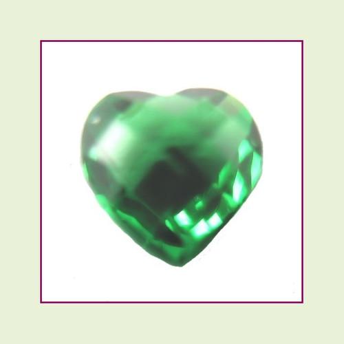 CZH05 - May Emerald Heart Crystal Birthstone – 5mm – For Floating Lockets