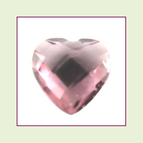 CZH06a - June Alexandrite Heart Crystal Birthstone – 5mm – For Floating Lockets