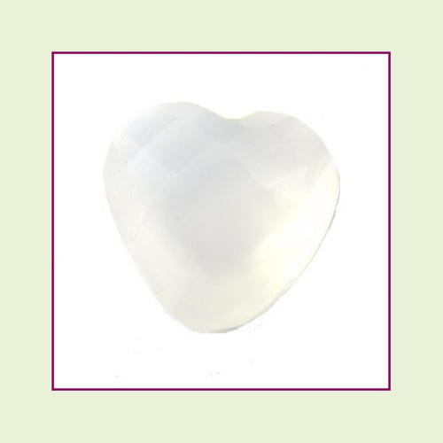 CZH06b - June Pearl Heart Crystal (Milk White) – 5mm – For Floating Lockets