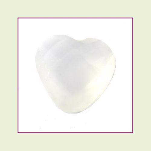 CZH06b - June Pearl Heart Crystal (Milk White) – 5mm – For Floating Lockets