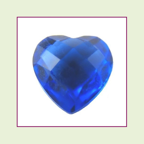 CZH09a - September Dark Sapphire Heart Crystal Birthstone – 5mm – For Floating Lockets