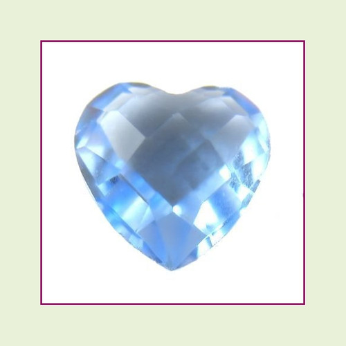 CZH09b - September Light Sapphire Heart Crystal Birthstone – 5mm – For Floating Lockets