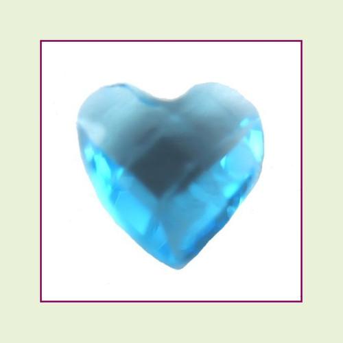 CZH12a - December Blue Topaz Heart Crystal Birthstone – 5mm – For Floating Lockets