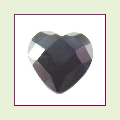 CZH12c - December Tanzanite Heart Crystal Birthstone – 5mm – For Floating Lockets