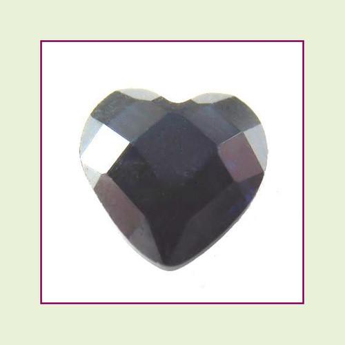 CZH12c - December Tanzanite Heart Crystal Birthstone – 5mm – For Floating Lockets