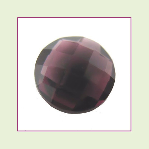 CZR02a - February Dark Amethyst Round Crystal Birthstone – 5mm – For Floating Lockets