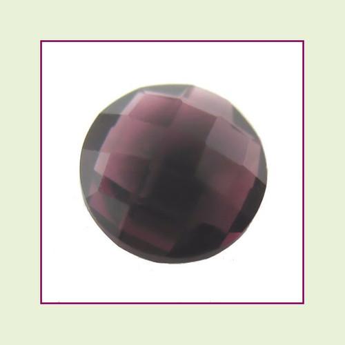 CZR02a - February Dark Amethyst Round Crystal Birthstone – 5mm – For Floating Lockets