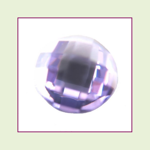 CZR02b - February Light Amethyst Round Crystal Birthstone – 5mm – For Floating Lockets