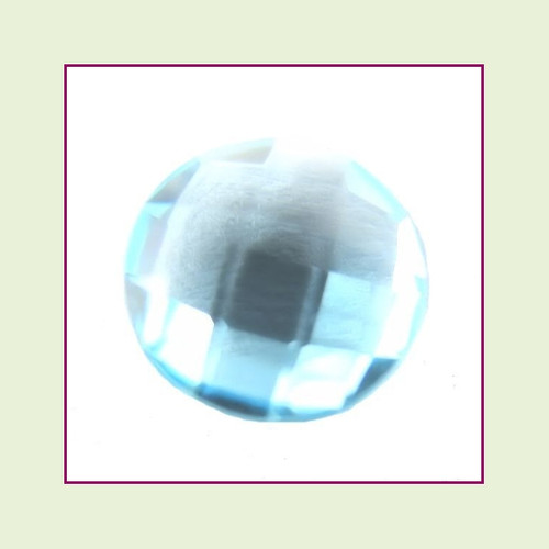 CZR03 - March Aqua Round Crystal Birthstone – 5mm – For Floating Lockets