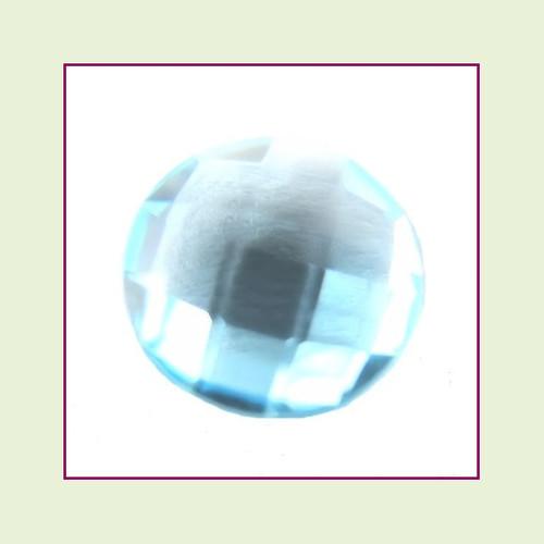 CZR03 - March Aqua Round Crystal Birthstone – 5mm – For Floating Lockets