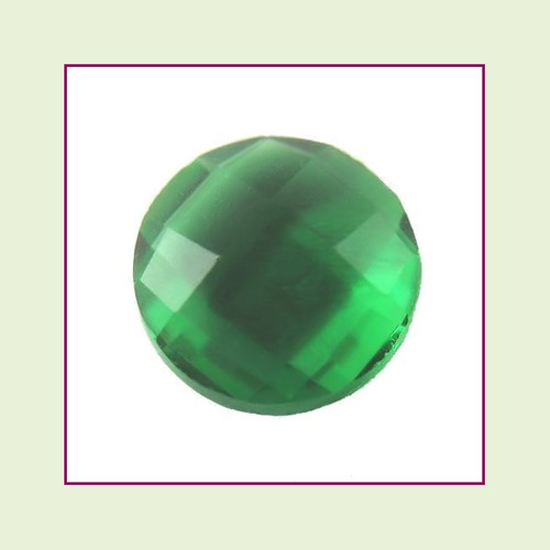 CZR05 - May Emerald Round Crystal Birthstone – 5mm – For Floating Lockets