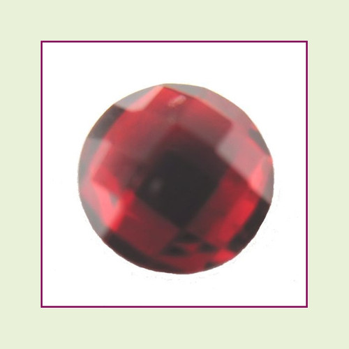 CZR07 - July Red Ruby Round Crystal Birthstone – 5mm – For Floating Lockets