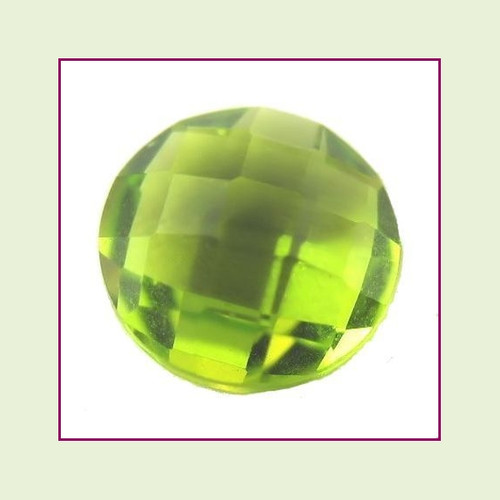 CZR08a - August Bright Peridot Round Crystal Birthstone – 5mm – For Floating Lockets