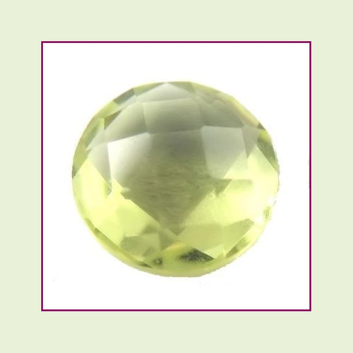 CZR08b - August Pale Peridot Round Crystal Birthstone – 5mm – For Floating Lockets