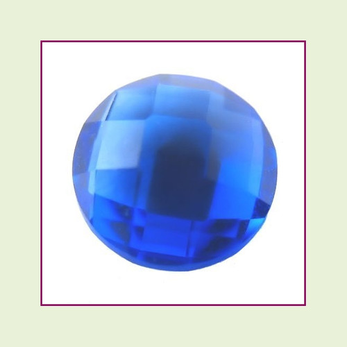 CZR09a - September Dark Sapphire Round Crystal Birthstone – 5mm – For Floating Lockets