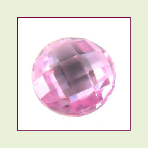 CZR10 - October Pink Tourmaline Round Crystal Birthstone – 5mm – For Floating Lockets