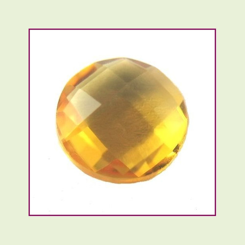CZR11a - November Gold Topaz Round Crystal Birthstone – 5mm – For Floating Lockets