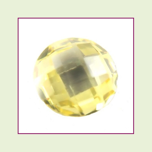 CZR11b - November Yellow Topaz Round Crystal Birthstone – 5mm – For Floating Lockets