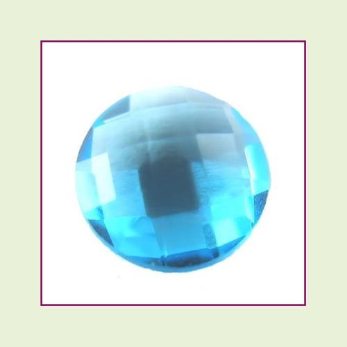 CZR12a - December Blue Topaz Round Crystal Birthstone – 5mm – For Floating Lockets