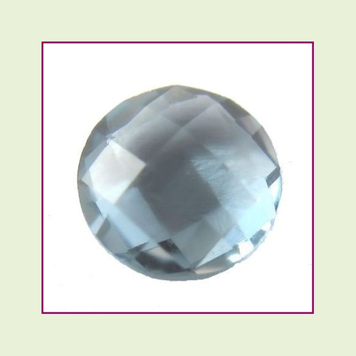 CZR12b - December Blue Zircon Round Crystal Birthstone – 5mm – For Floating Lockets