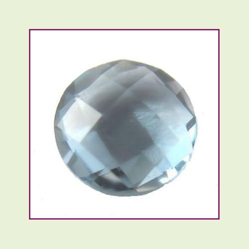 CZR12b - December Blue Zircon Round Crystal Birthstone – 5mm – For Floating Lockets