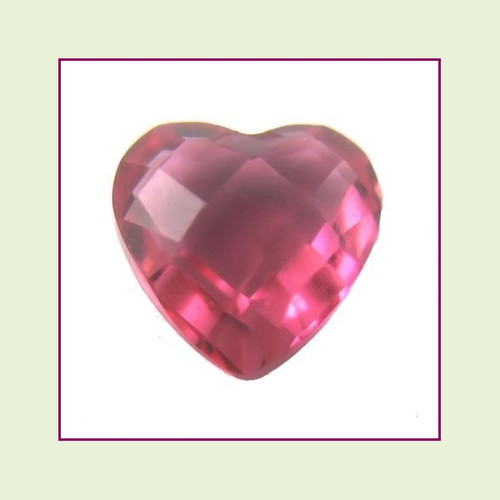 CZZ100 - 5mm Heart Crystal - Berry Pink for Floating Lockets