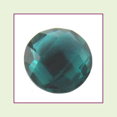 CZZ201 - 5mm Round Crystal - Teal for Floating Lockets