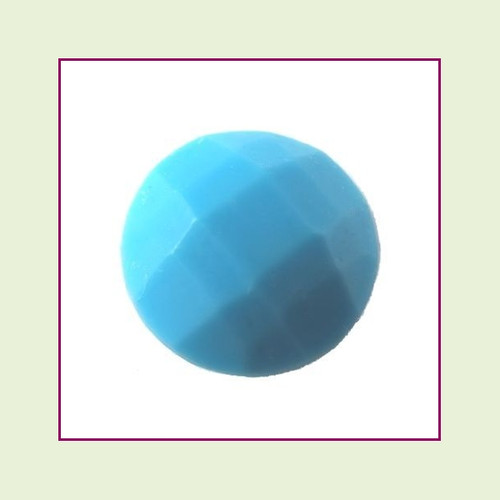 CZZ203 - 5mm Round Crystal - Blue Turquoise for Floating Lockets