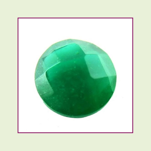 CZZ204 - 5mm Round Crystal - Christmas Green for Floating Lockets
