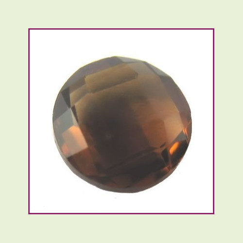CZZ205 - 5mm Round Crystal - Coffee for Floating Lockets