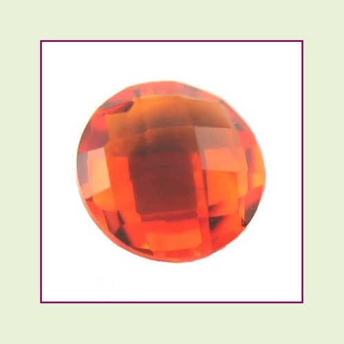 CZZ207 - 5mm Round Crystal - Orange for Floating Lockets