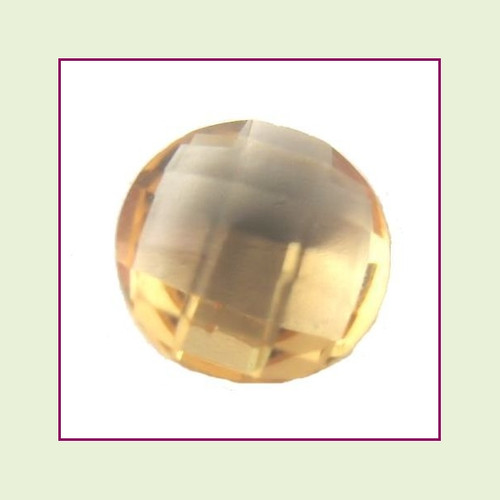 CZZ208 - 5mm Round Crystal - Champagne for Floating Lockets