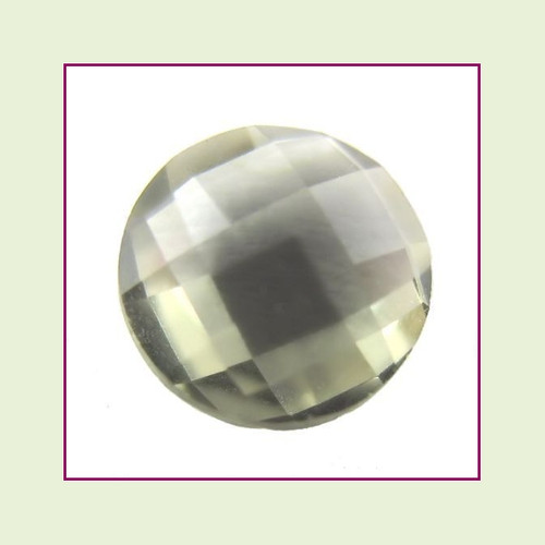 CZZ210 - 5mm Round Crystal - Dark Gray Green