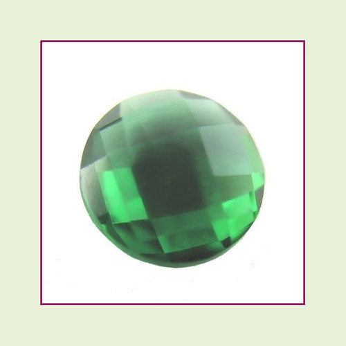 CZZ211 - 5mm Round Crystal - Dark Green for Floating Lockets