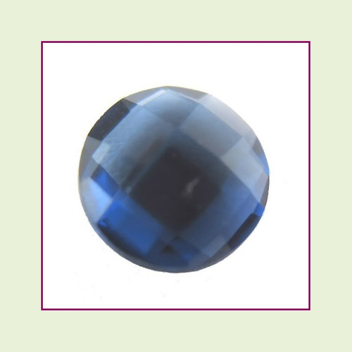 CZZ214 - 5mm Round Crystal - Navy Blue