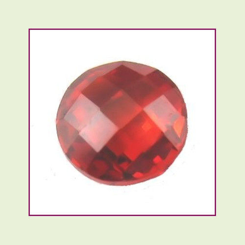 CZZ215 - 5mm Round Crystal - Burnt Orange