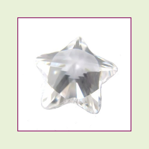 CZZ301 - 5mm Star Crystal - Clear for Floating Lockets
